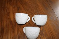 Set of 3 Vintage McKee Concord Milk Glass Punch Bowl Cups
