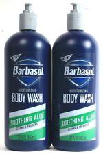 2 Barbasol Moisturizing Body Wash Soothing Aloe Cleans Freshens As You Wash 32oz
