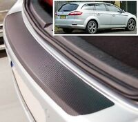 Ford Mondeo Mk4 Familiar - estilo Carbono Parachoques trasero PROTECTOR