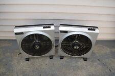 Pair of vintage DVE Rotating Louver Fan.