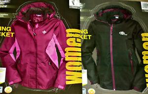 Damen Trekkingjacke Regenjacke Wanderjacke Gr.38 40 brombeer/schwarz NEU