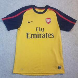 Arsenal Away Football Shirt 2008 2009 Small S Yellow Nike 2nd Change