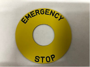 Emergency Stop Discs - 60mm / 90mm