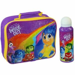 Disney® PIXAR Inside Out Kids Children Lunch Bag & Aluminium Water Bottle Set