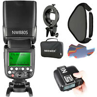 Neewer Wireless HSS TTL Flash Speedlite Kit with Trigger Softbox for Sony Camera