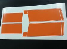 Hq GTS Stripe Kit in Orange Vinyl suit holden HQ 4 door and coupe