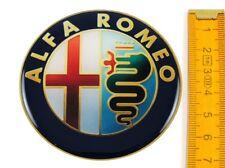 ALFA ROMEO ★ 4 Stück ★ SILIKON Ø70mm Aufkleber Emblem Felgenaufkleber Radkappen