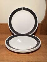 "Set of 5 Vintage Corelle - URBAN BLACK - Dinner Plates 10 1/4"" Corningware"