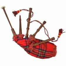 vidaXL Cornamusa Scozzese Great Highland Rosso Regale Strumento Fiato Folclore