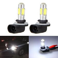 2PCS 881 6500K HID White 5 COB LED Fog Lights DRL Bulbs 886 894 896 898 H27W/2