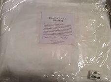 Restoration Hardware Thai Silk Solid Drapery 46x84 Optic White French Pleat