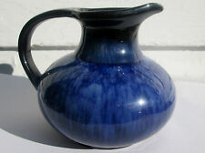 VTG BLUE MOUNTAIN POTTERY COBALT BLUE SQUAT PITCHER