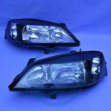 2x Scheinwerfer Opel Astra G schwarz links + rechts Set Klarglas NEU black