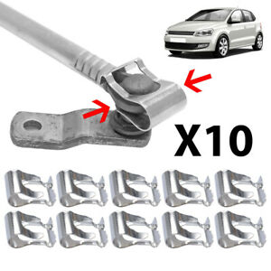 10X Wiper Linkage Motor Rods Arm Repair Clip Mechanism Clips Auto Spring Clamp