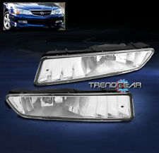 2002-2003 ACURA TL FRONT BUMPER DRIVING FOG LIGHTS LAMPS JDM CHROME W/BULB PAIR