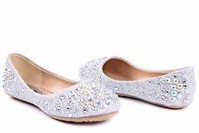 *New* Links Girls White Larissa Flat Shoe ~  Size UK 11 (USA 12)
