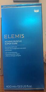 Elemis Aching Muscle Super Soak 400ml Brand New Boxed Musclease Bath Soak