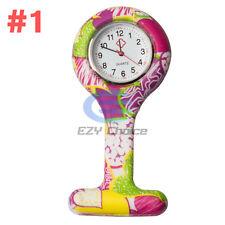 Silicone Nurse Watch Brooch Tunic Fob Nursing Nurses Pendant Clip Quartz #1