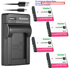 Kastar Battery Slim Charger for Sony NP-FT1 FT1 & Sony Cyber-shot DSC-T5 Camera