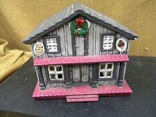 VINTAGE 1986 CERAMIC BYRON MOLDS CHRISTMAS VILLAGE House ~ Ice Cream-Donut Shop