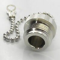N Type & PL259 Plug Dust Cap Cover with Chain UHF Socket