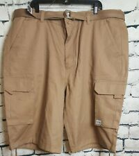 Pro Club Cargo Big & Tall Khaki Shorts with Belt Men's (Size: 46)