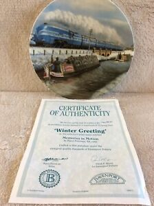 Collectable Davenport Pottery ' Winter Greeting ' Decorative Plate No. 705D