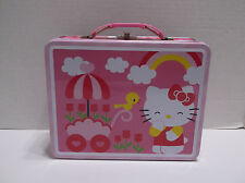 Hello Kitty With Flower Cart Metal Lunch Box, Never Used