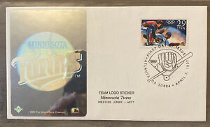 FDC FIRST DAY COVER BASEBALL MINNESOTA TWINS