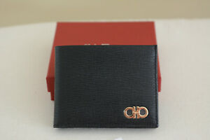 NWT Salvatore Ferragamo Leather wallet ALL Black/gold SEXY - 100% AUTHENTIC!