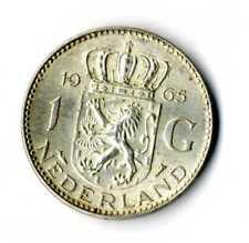 Moneda Holanda 1965 1 Florin Juliana plata 0.720 silver coin Nederland