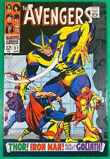 The Avengers #51, 9.2 NM-. Marvel comic, APR 1968, Silver Age, Excellent Copy!