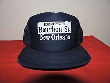 New Orleans Bourbon Street French Quarter Trucker hat Navy Blue
