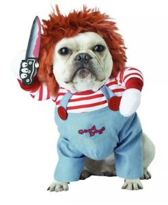Halloween Chucky Child's Play Costumes Funny Pet Clothes  Deadly Doll Clothing
