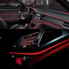 Red LED Car Auto Interior Decorative Atmosphere Wire Strip Light Lamp 2M 12V