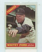 WHITEY FORD 1966 Topps #160 New York Yankees Staple Holes on top of card