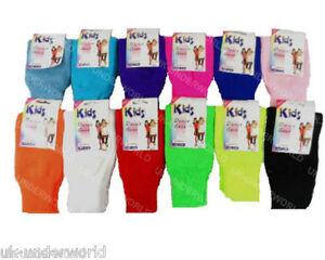 Childrens Leg Warmers Girls Neon Plain Dance Gear Kids Fancy Dress 1 Pair