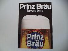 advertising Pubblicità 1972 BIRRA BEER PRINZ BRAU