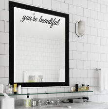 You're Beautiful vinyl wall lettering quote wall art/decor/family room/sticker