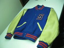 VINTAGE DISTRESSED MADE IN USA LETTERMAN JACKET SIZE 38