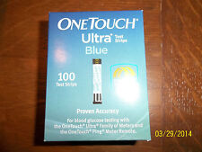 Never Opened 1 Box of 100 Strips of One Touch Ultra Blue Test Strips Exp 11/18