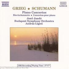 GRIEG/SCHUMANN - Piano Concertos (Jando/Budapest SO) (EU 5 Tk CD Album)