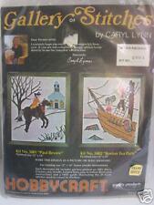 Vintage Hobbycraft Crewel Stitchery Kit Paul Revere Carol Lynn Historic Scene