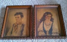 Antique Vintage Chico Elena Ann Allaben Framed Pictures Edward Gross Co New York
