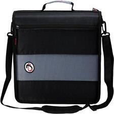 New Case-it 2-Inch Ring Zipper Binder Black Student Handle & shoulder Strap