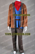 Merlin Cosplay Costume Full Set Coat Shirt Pants Scarf Tailor Made Fast Shipping