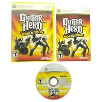 Guitar Hero: World Tour (Microsoft Xbox 360, 2008) Complete with Manual CIB