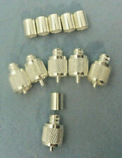 UHF / PL-259 MALE, RG-8/LMR-400 Crimp, Silver/Teflon, 6 Pack, - Quality Counts