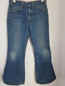 Vintage Men's Levis bell bottom jeans / orange tab rear pocket 684 0217. 34/31