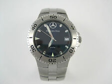 """Mercedes-Benz 20 ATM 715 Wristwatch Stainless Blue Face Screw Back 6"""""""